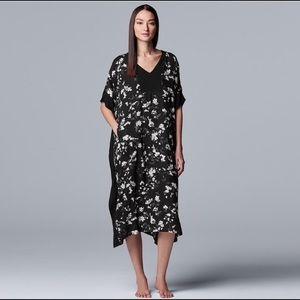 Simply Vera Wang Caftan Sleepshirt Gown NWT XXL
